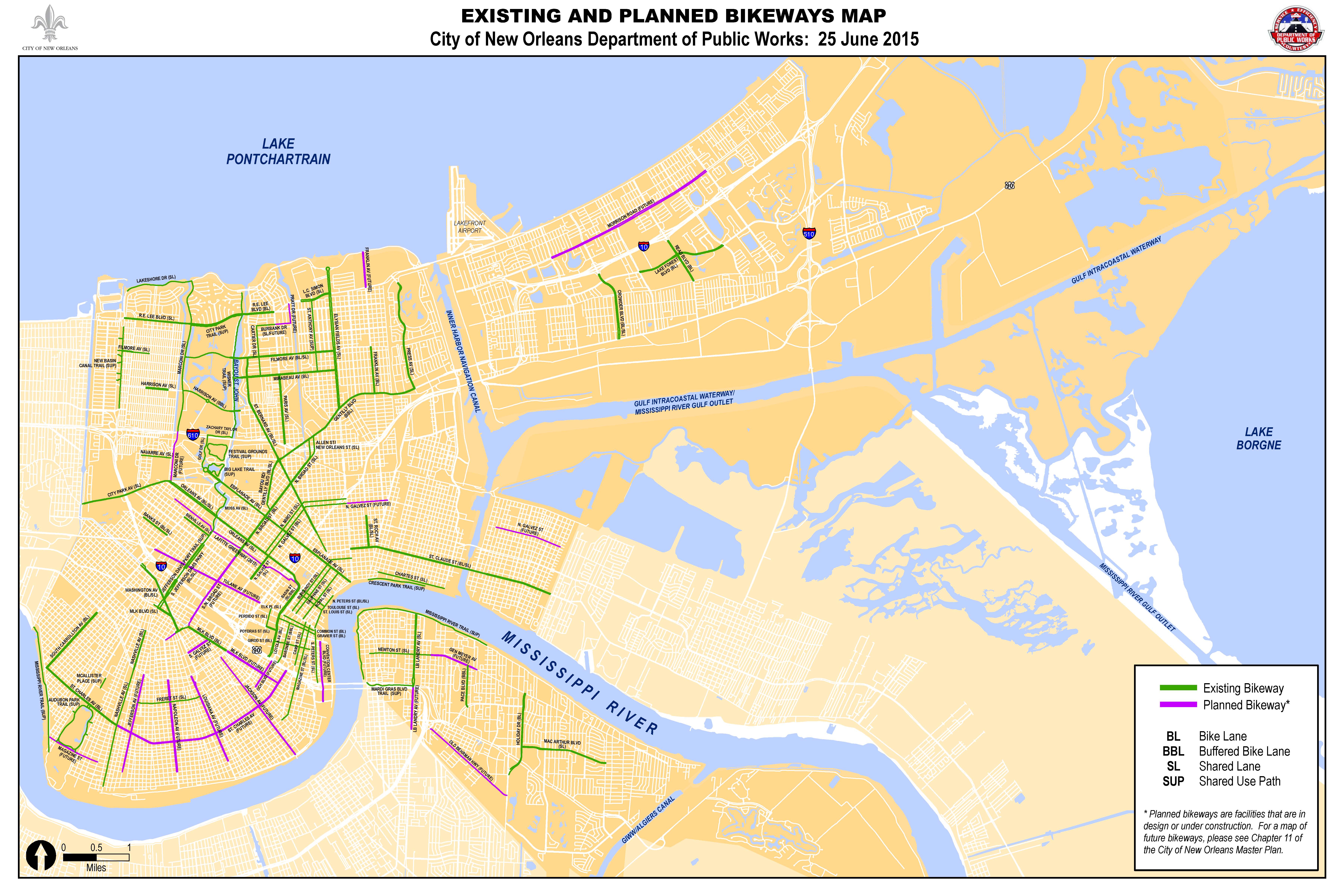 DPW Bicycling City of New Orleans