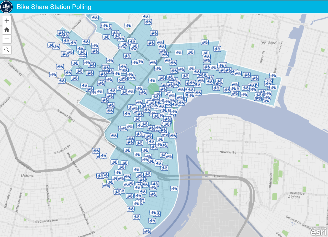 Bike Share City Of New Orleans - Map new orleans wards