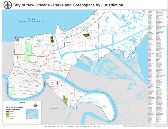 Parks and Parkways Locate A Park City of New Orleans